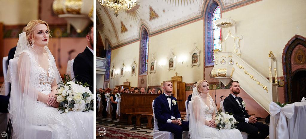 fotografia ślubna Grudziądz - para młoda w kościele