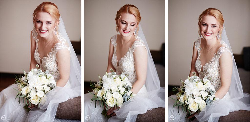 fotografia ślubna Grudziądz - uśmiech panny młodej - portret panny młodej