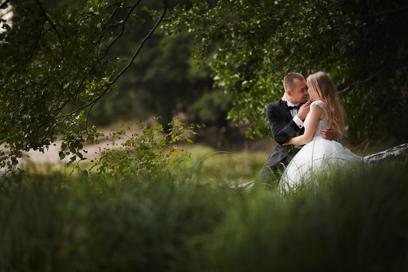 plener ślubny Darii i Adama w Osiu