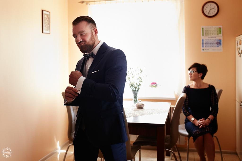 fotografia ślubna Grudziądz - pan młody