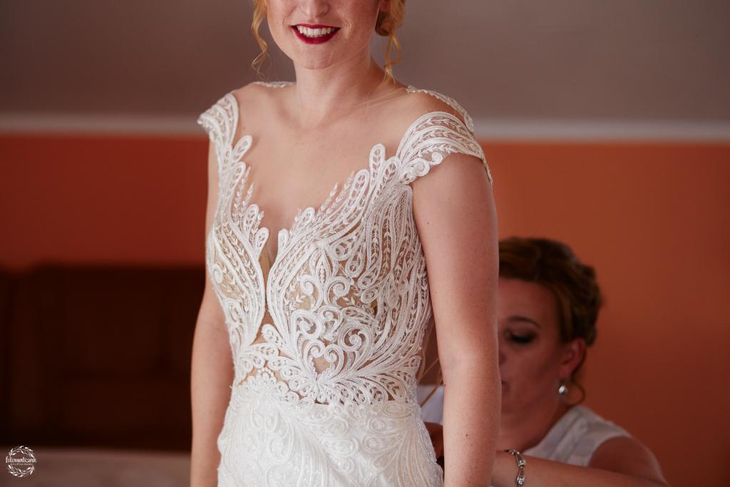 fotografia ślubna Grudziądz - uśmiech panny młodej