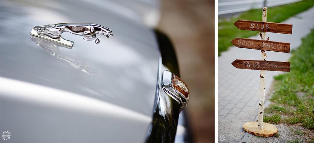 ślub i wesele w Grudziądzu - auto do ślubu - jaguar