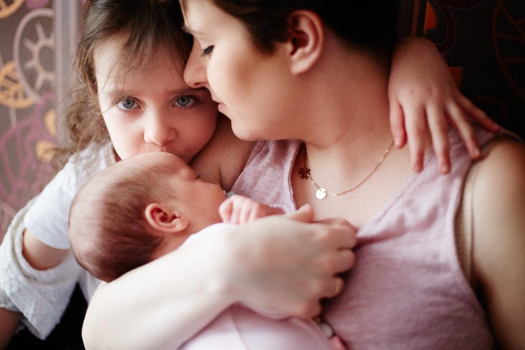 sesja rodzinna Grudziądz - mama z córkami