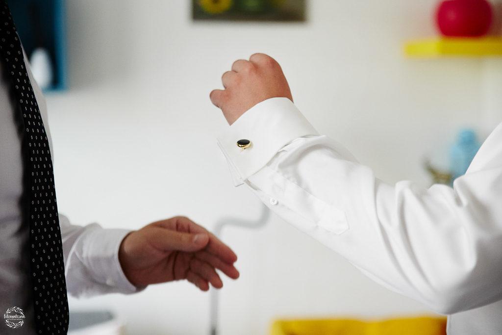 ślub i wesele w Grudziądzu - spinki do mankietów