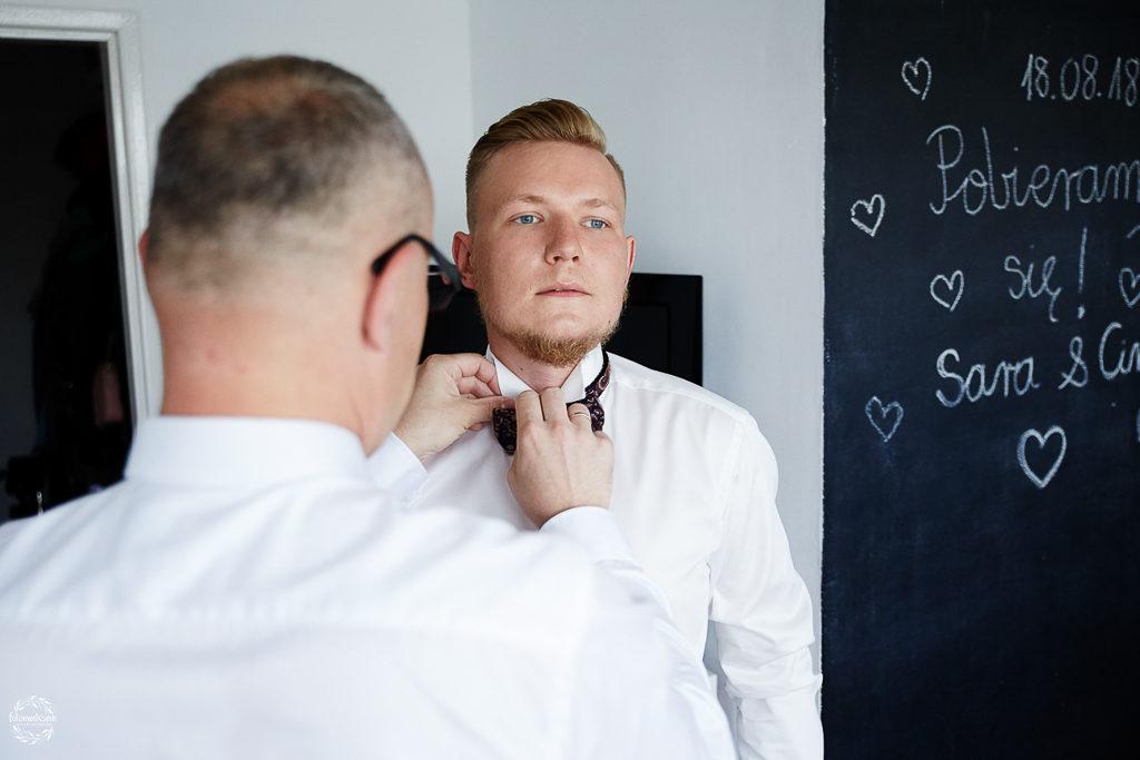 ślub i wesele w Grudziądzu - przygotowania pana młodego