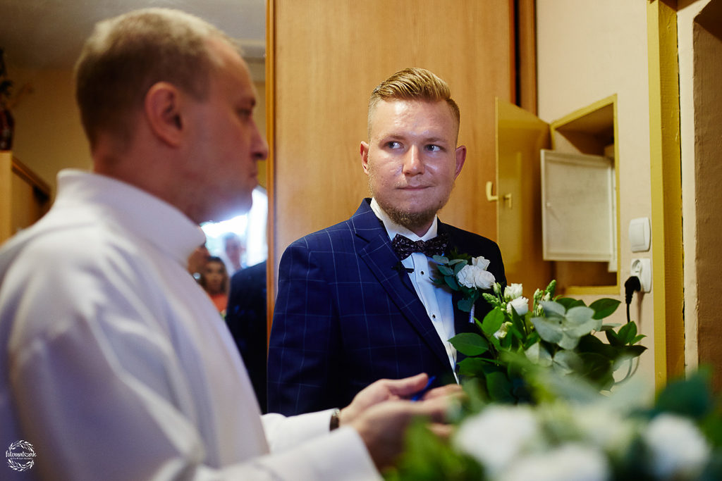 ślub i wesele w Grudziądzu - pan młody
