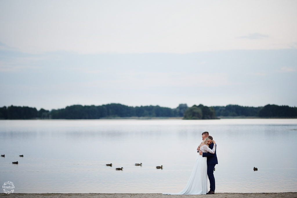 Ślub i wesele Grudziądz- plener - jezioro Rudnik